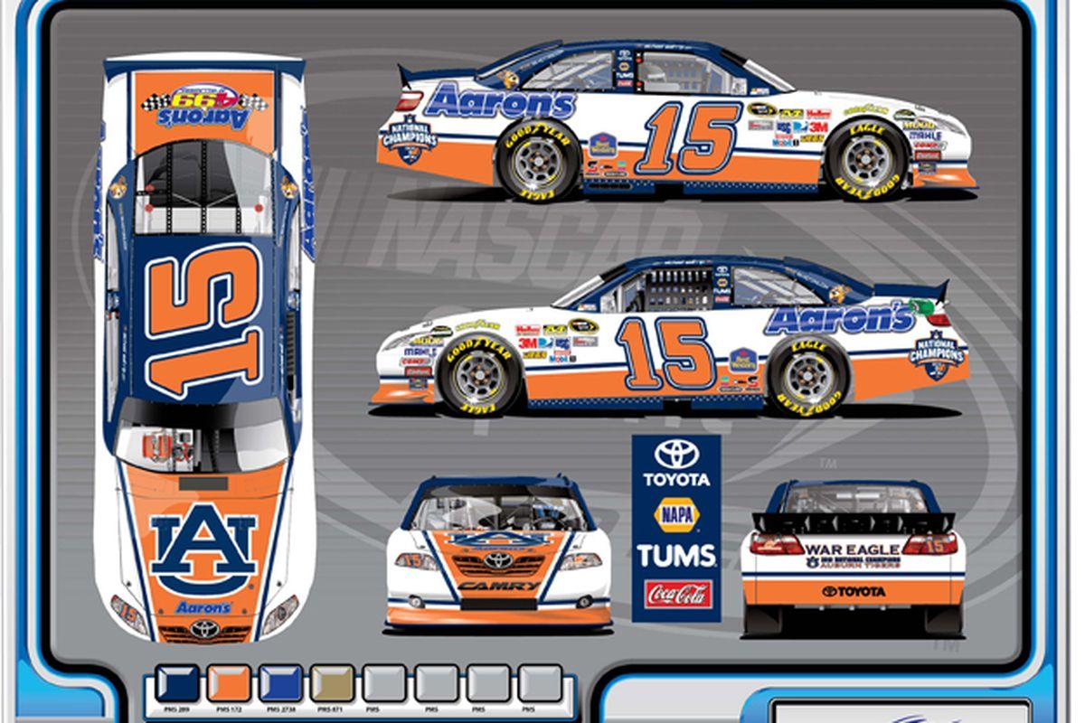 NASCAR Driver Michael Waltrip will drive an Auburn Car in the Aaron's 499 race atTalladega.