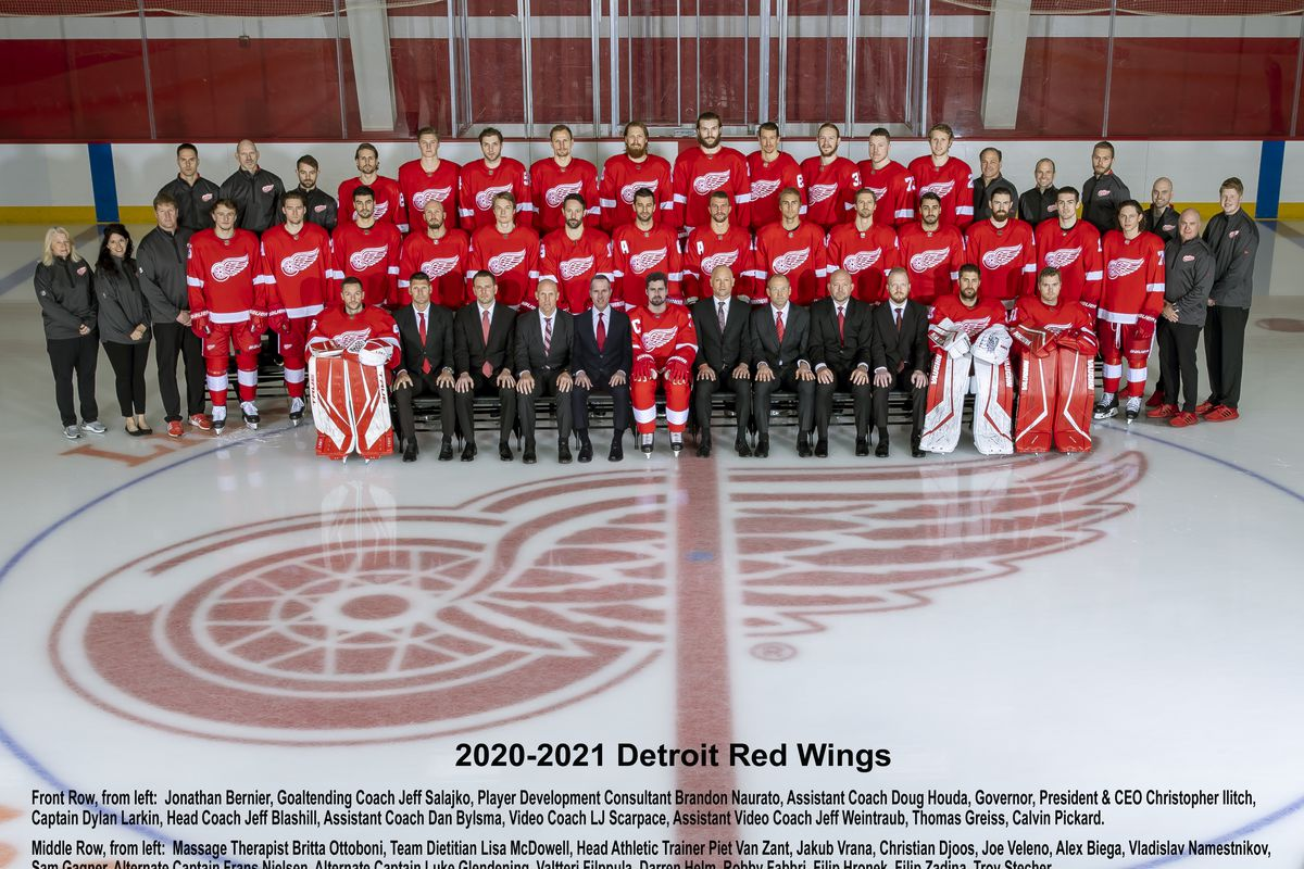 2020-21 Detroit Red Wings Official Team Photo
