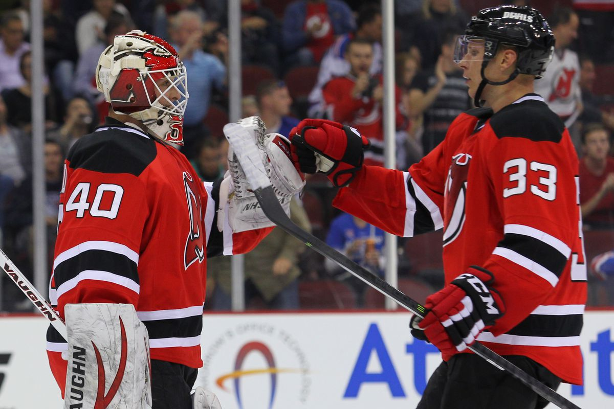 Alexander Urbom (right) and Keith Kinkaid (left) are still with New Jersey after today's cuts.  But they will not be likely to stay in New Jersey for much longer.  Who else would join them?