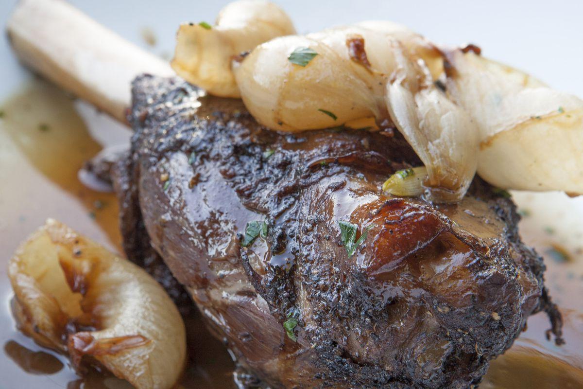 Lamb Shank from Jar restaurant in Los Angeles, California.