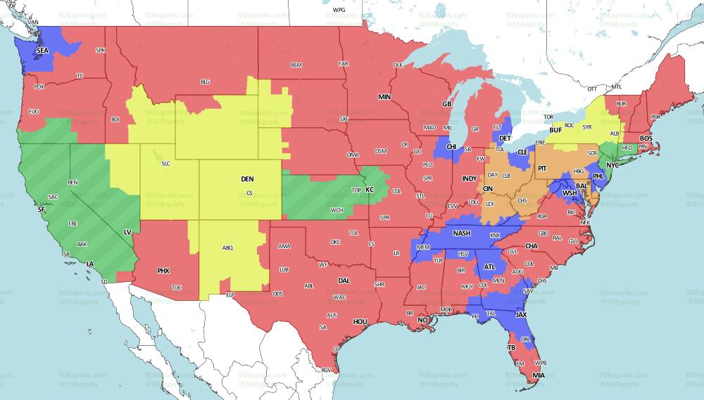 Buffalo Bills vs. Denver Broncos: television broadcast map, announcers Week 12