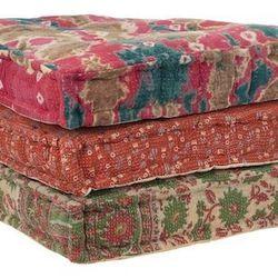 Kantha floor cushion, $39.