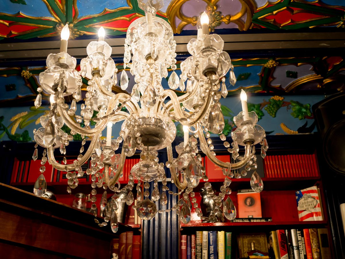 A chandelier at The Mansion on O Street in Washington D.C.