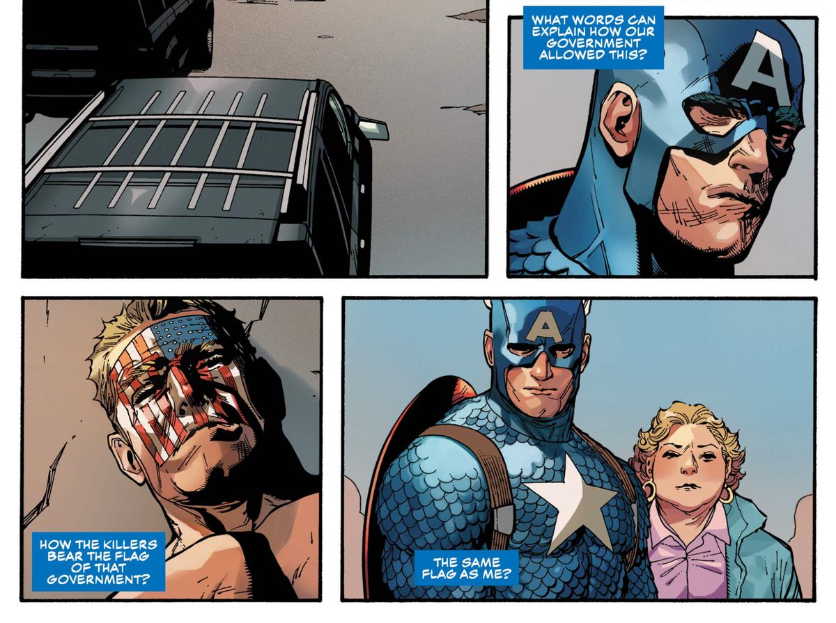 From Captain America No. 1, Marvel Comics (2018).