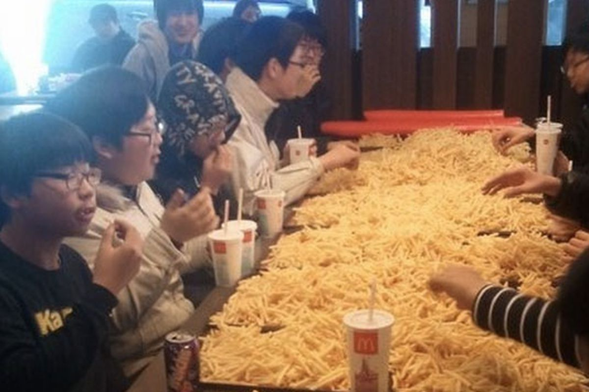 Image result for eat mcd french fries on tray