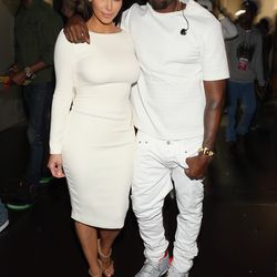 They both went for all-white ensembles at the BET Awards in July 2012.