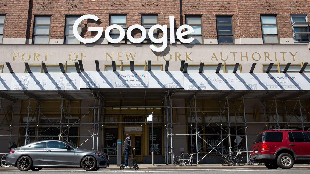 Google's New York headquarters on Eight Avenue in Chelsea.