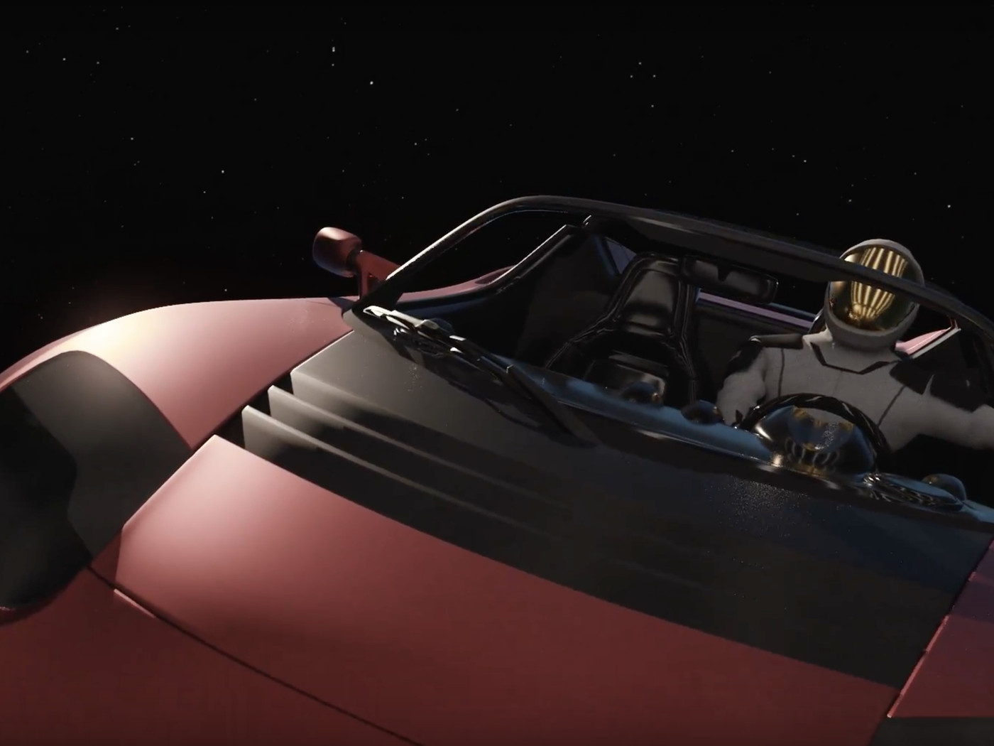 Spacex Animation Shows What Elon Musks Roadster Will Look Like On Tesla Motor Design Diagram Pics Its Way Toward Mars The Verge