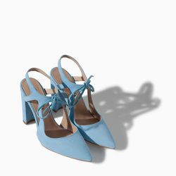 """<strong><a href=""""http://www.zara.com/us/en/woman/shoes/high-heel-leather-court-shoe-with-bow-c358009p1694268.html""""> Zara High Heel Leather Court Shoe with Bow</a>, $99</strong>: Your new something blue. [Photo: Zara]"""