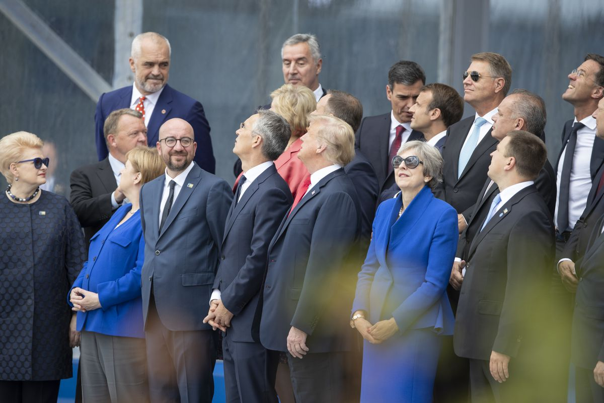 Image result for PHOTOS OF TRUMP AT 2018 JULY NATO SUMMIT