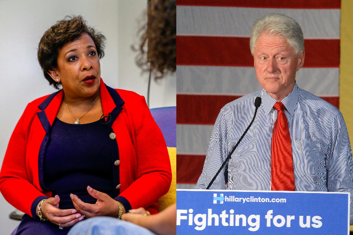 Loretta Lynch and Bill Clinton