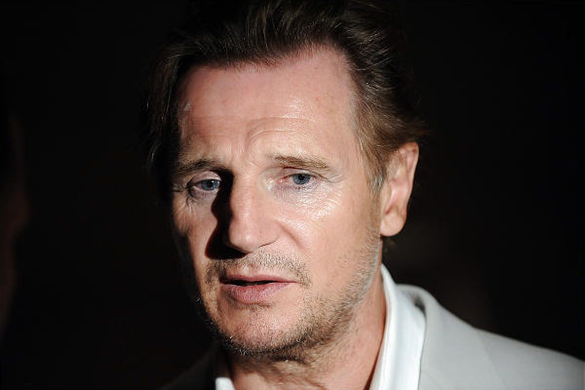 """Actor Liam Neeson attends the premiere for """"Five Minutes of Heaven"""" at the Tribeca Grand Hotel on Tuesday in New York."""
