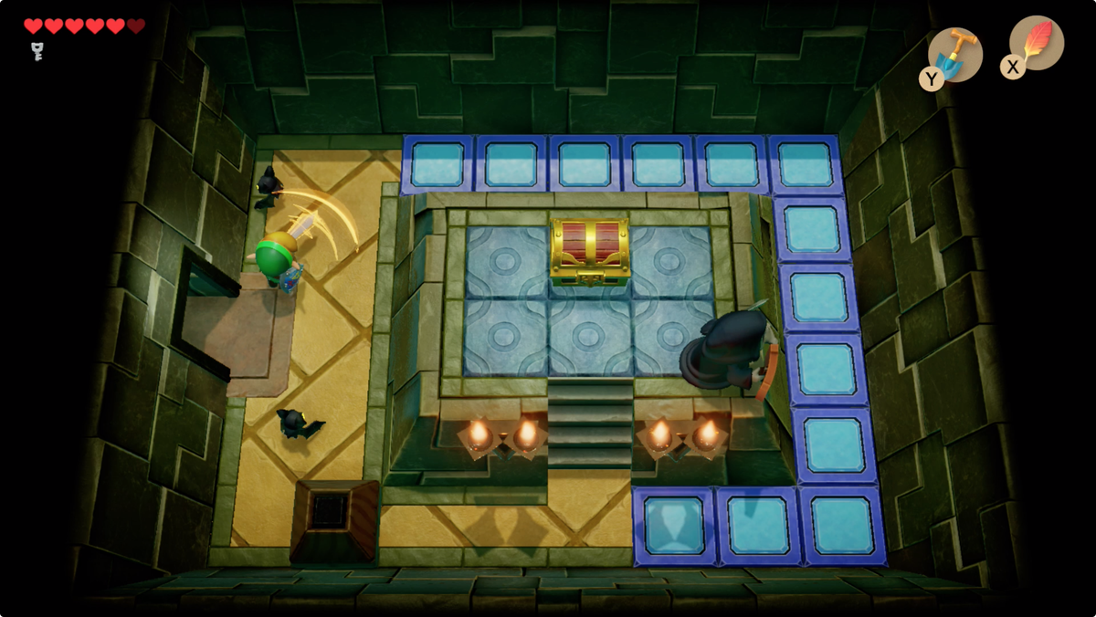 Link's Awakening Key Cavern after hitting the crystal downstairs, you can reach the map