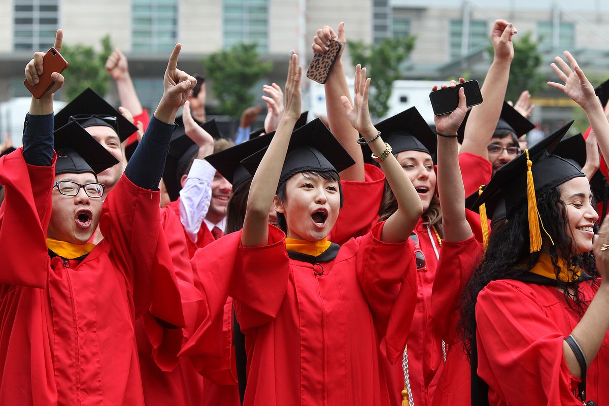 Woooo, graduation! Now, seriously: for heaven's sake, save some money while you pay off those loans.