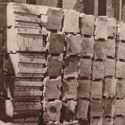 Entrepreneur W.H. Coltharp wanted a bank exterior of durable fired bricks made in Salt Lake City. Because commercial freight wagons were too expensive, they used the post office to mail bricks. They were each wrapped and packed in crates of 10.