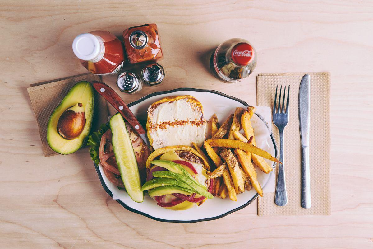 The California burger at Black Tap