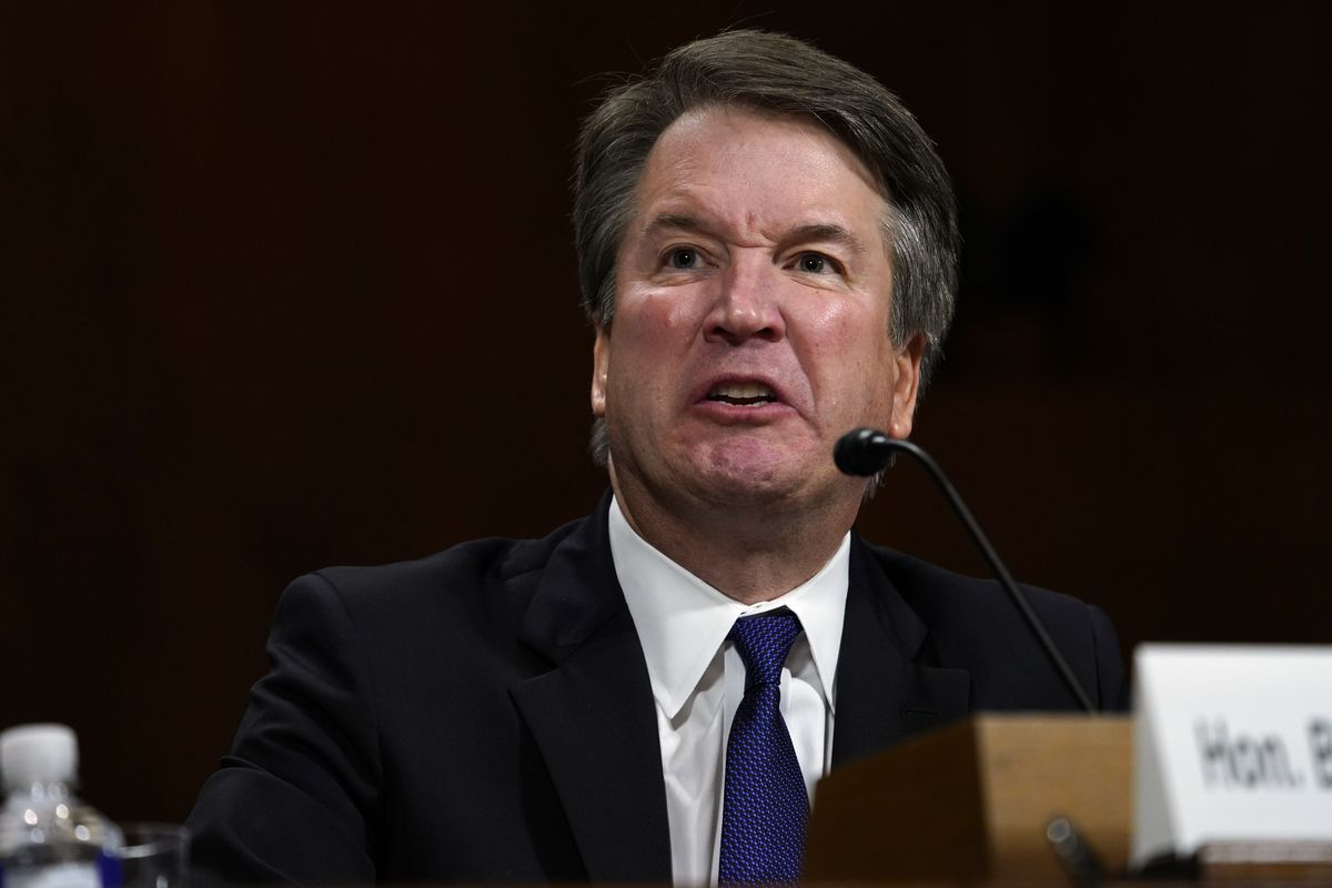 Brett Kavanaugh at the September 27 Senate hearing on sexual assault accusations leveled by Dr. Christine Blasey Ford.