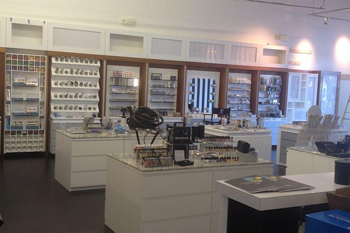 L Makeup Institute's new retail area
