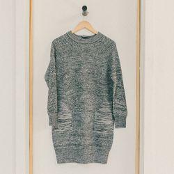 Il by Saori Komatsu navy heather sweater dress, $465