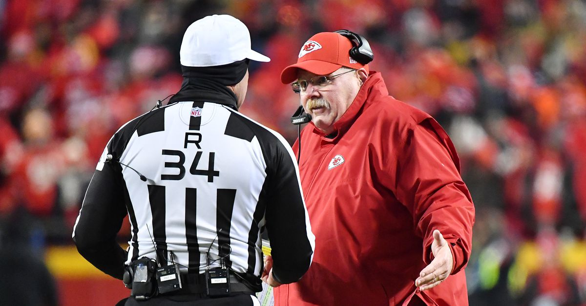 Andy Reid on AFC title penalties: offsides OK, roughing the passer not so much