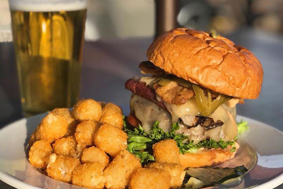 A burger at Highland Tap & Burger