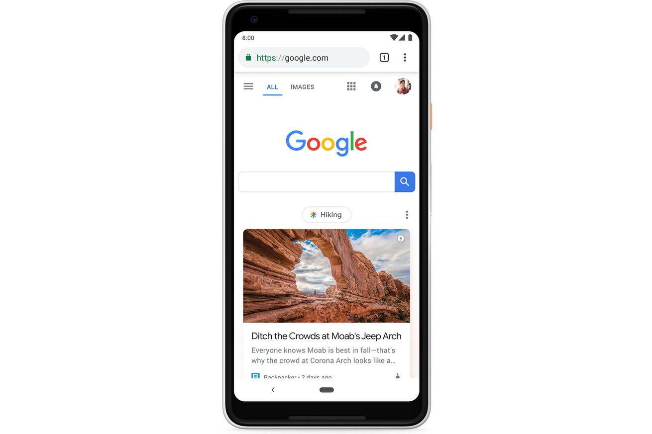google begins cluttering its mobile homepage