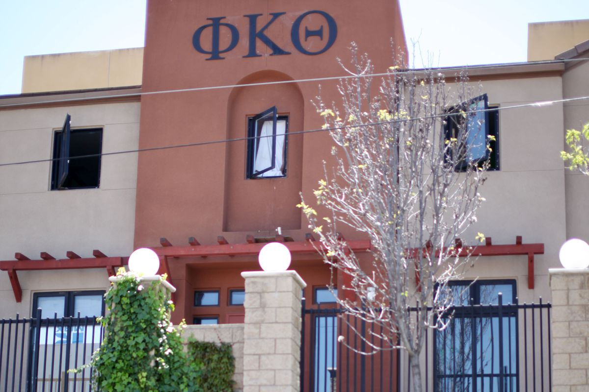 The Phi Kappa Theta fraternity at San Diego State University, where the fratnerity president died of an overdose in 2012.