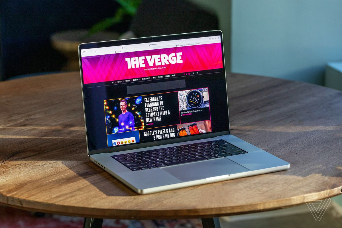 The new 16-inch MacBook Pro on a table