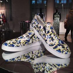 More printed sneakers.
