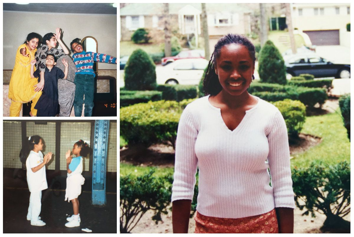 collage of personal photos