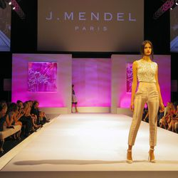 Runway show featuring J. Mendel's S/S 2014 collection at Elyse Walker's ninth annual Pink Party.