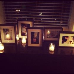 Campaign images by candlelight