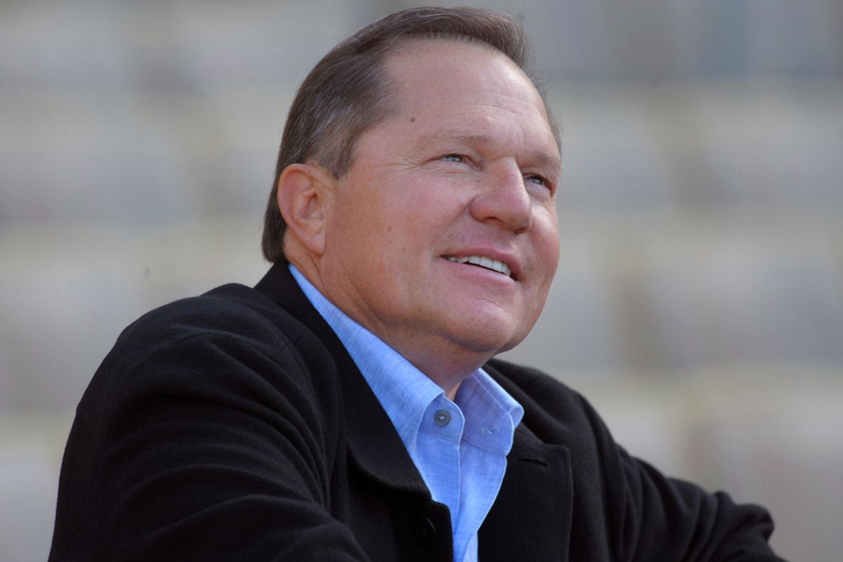 May 15, 2012; Los Angeles, CA, USA; Sports agent Scott Boras attends the MLB game between the Arizona Diamondbacks and the Los Angeles Dodgers at Dodger Stadium. Mandatory Credit: Kirby Lee/Image of Sport-US PRESSWIRE