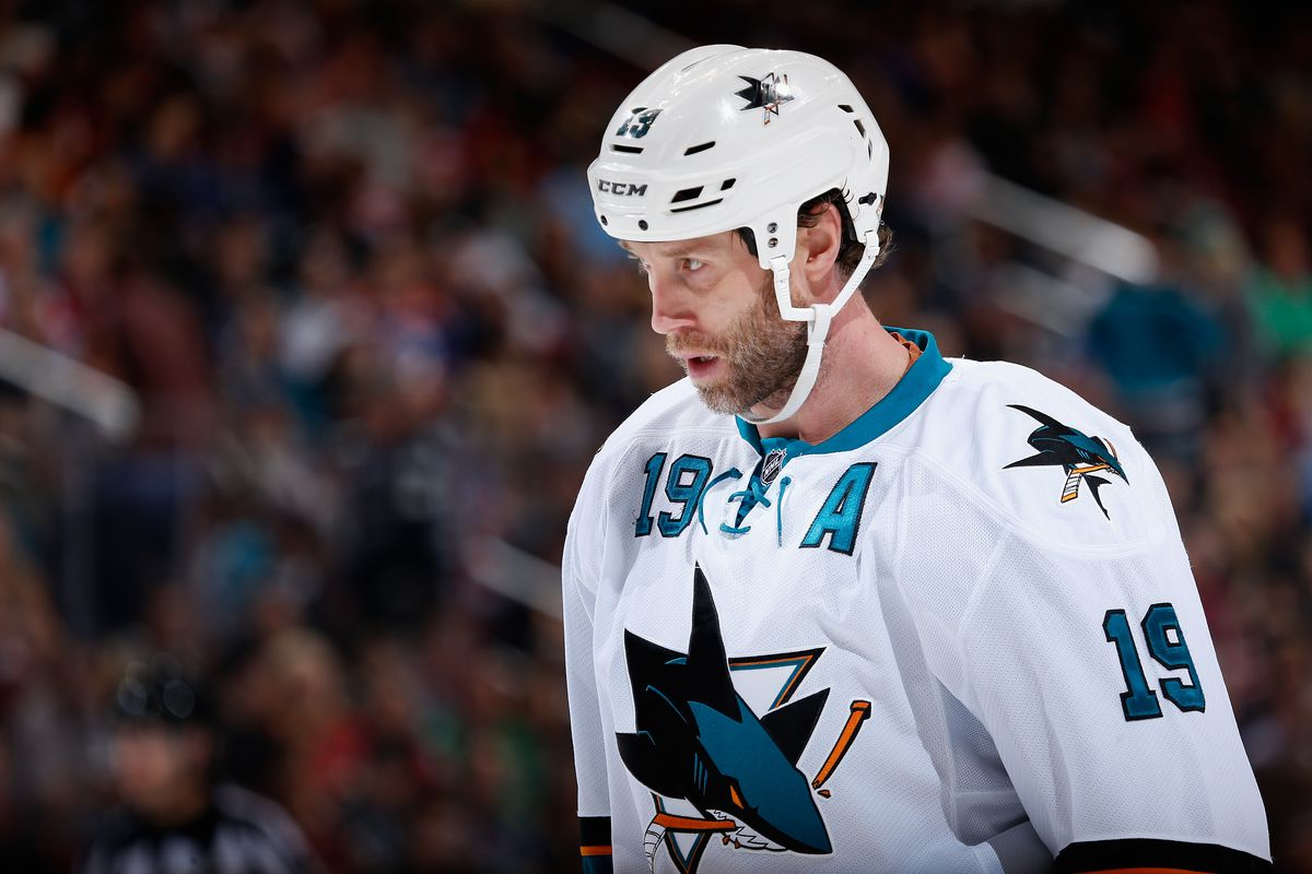 Joe Thornton Says Gm Needs To Shut His Mouth About Captaincy Decision Sbnation Com