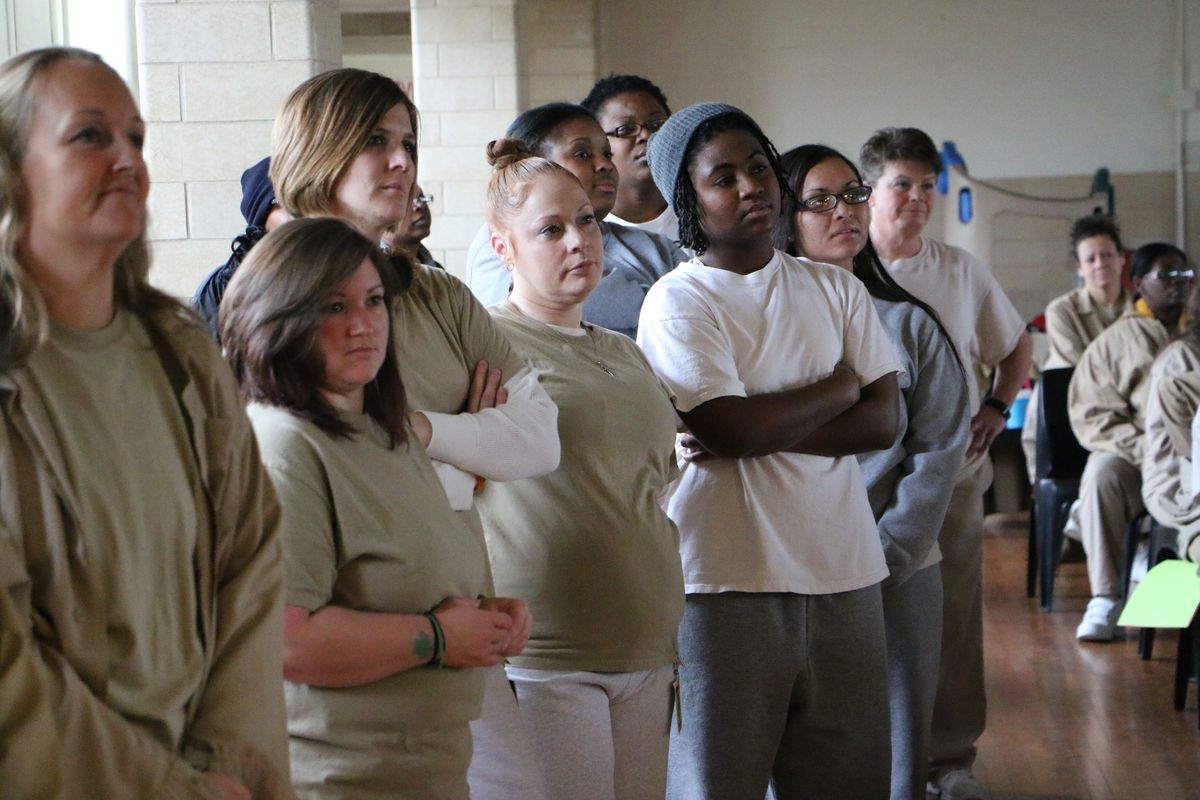 Inmates at the Indiana Women's Prison.