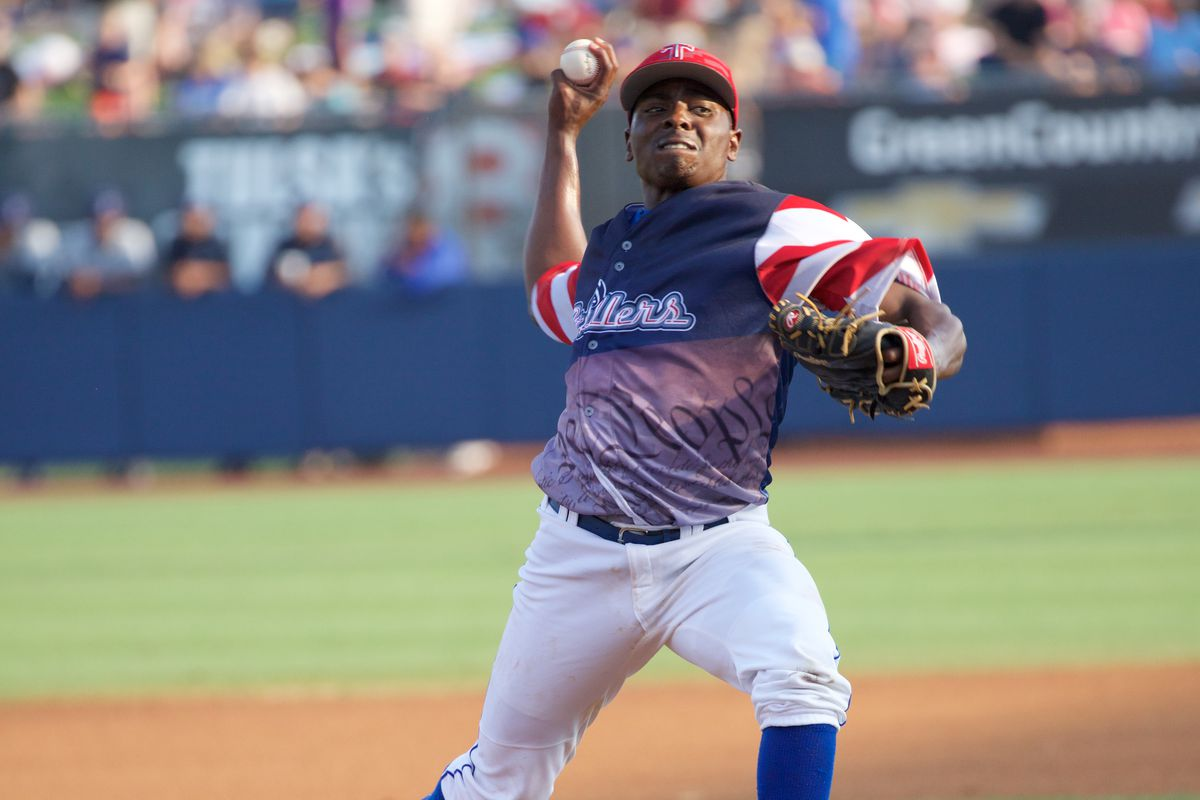 Jharel Cotton headlines the Dodgers pitching contingent in the Arizona Fall League in 2015.