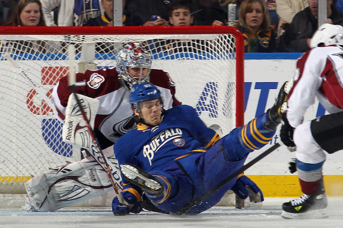 The award for best floor routine goes to Marcus Foligno.