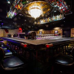 The bar in the main room at 1923 Bourbon & Burlesque.