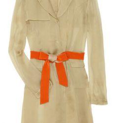 Philosophy di Alberta Ferretti belted silk-voile trench coat ($385)