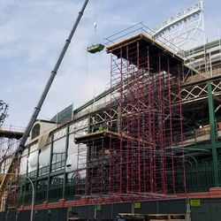 Scaffolding and work on Addison