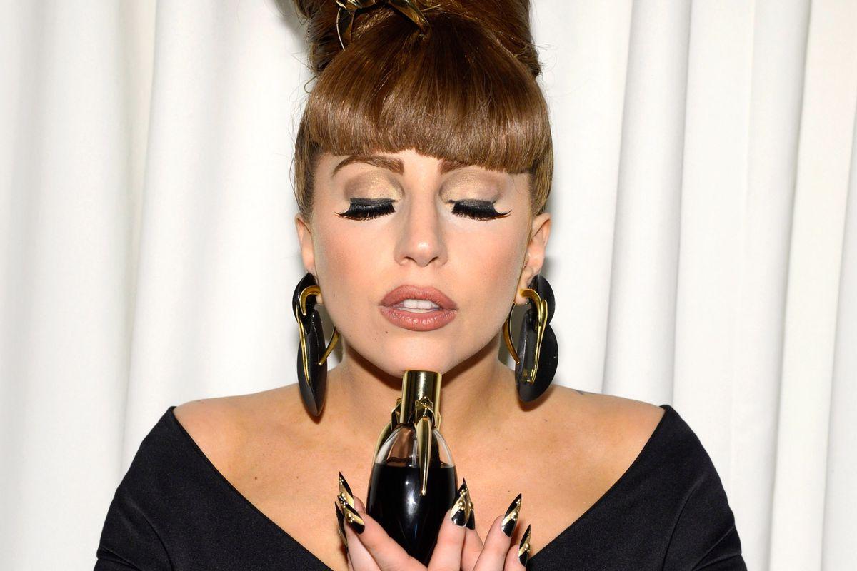 Lady Gaga at the 'Fame' eau de parfum launch. Photo: Getty Images
