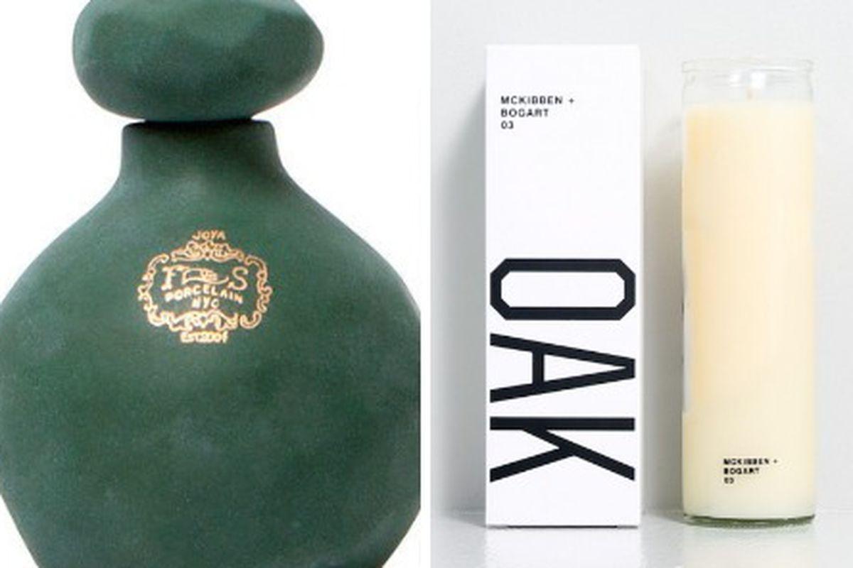 "Left, via <a href=""http://tmagazine.blogs.nytimes.com/2014/09/02/joya-new-perfume-oil-foxglove-inspired-by-central-park-and-new-york-city/"">T magazine</a>, right, via <a href=""http://www.oaknyc.com/oak-mckibben-bogart-03-candle-44568.html"">OAK NYC</"