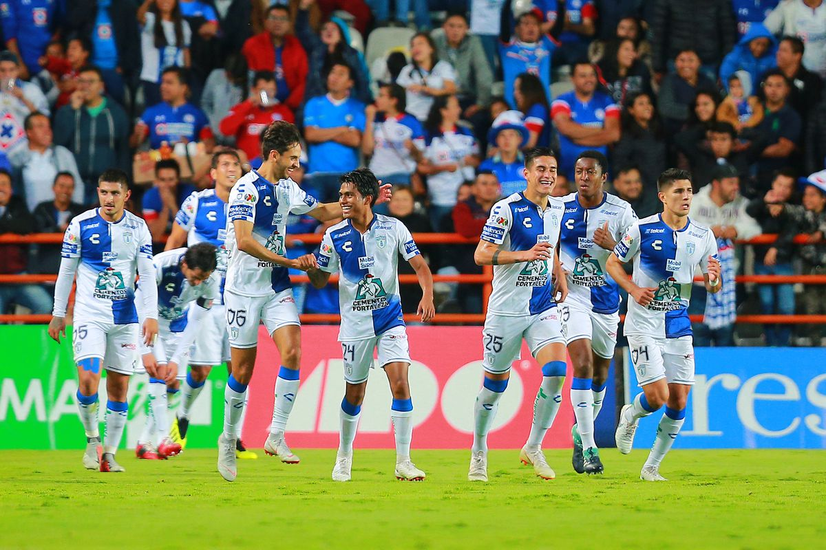 Pablo Lopez Center Of Pachuca Celebrates With Teammates After Scoirng The Third Goal Of His Team During The 11th Round Match Against Cruz Azul At Estadio