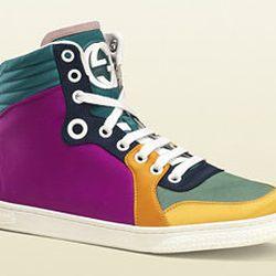 """Gucci Coda high-top satin multicolor sneakers, <a href=""""http://www.gucci.com/us/styles/258195KLW407071#"""">$515</a>, Gucci at Via Bellagio"""