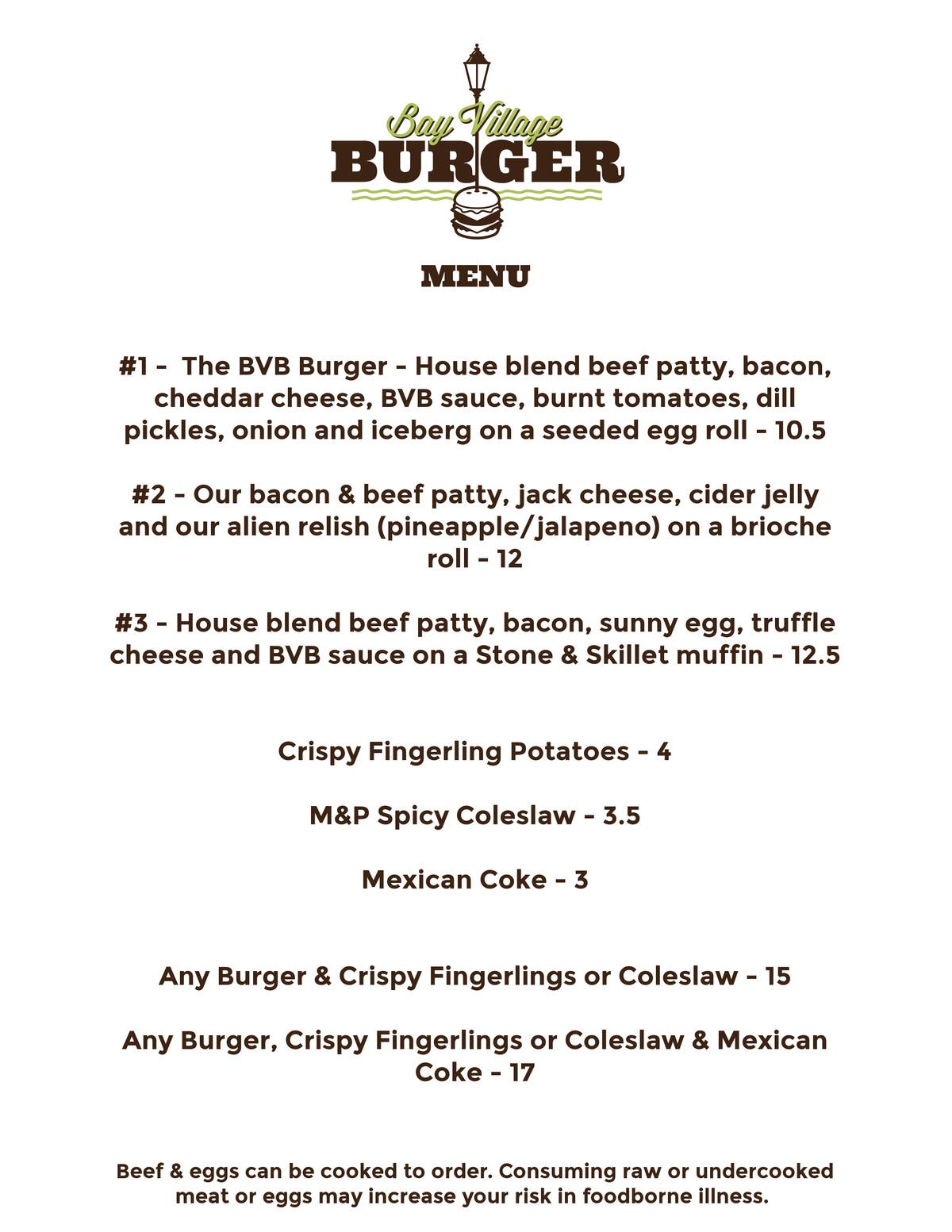 Bay Village menu 2