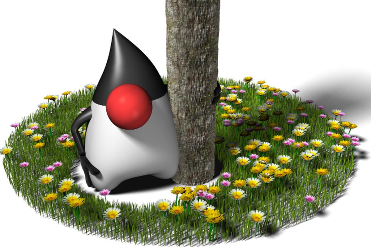 "Java Duke by <a href=""http://kenai.com/projects/duke/"">Project Kenai</a>"
