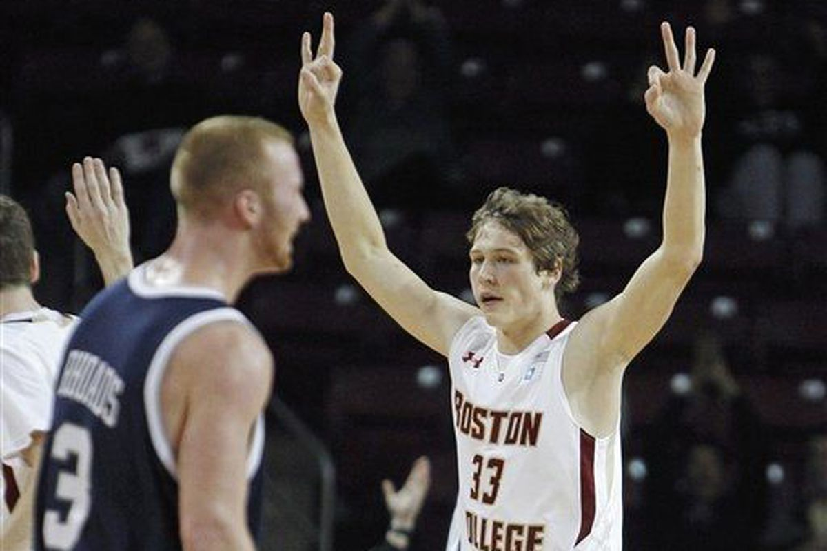 Boston College's Patrick Heckmann had a hell of a start for the Eagles.