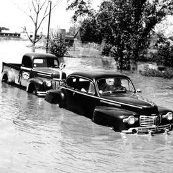 Flooding in the Salt Lake area May 1, 1952. About 3rd West and 17th South.