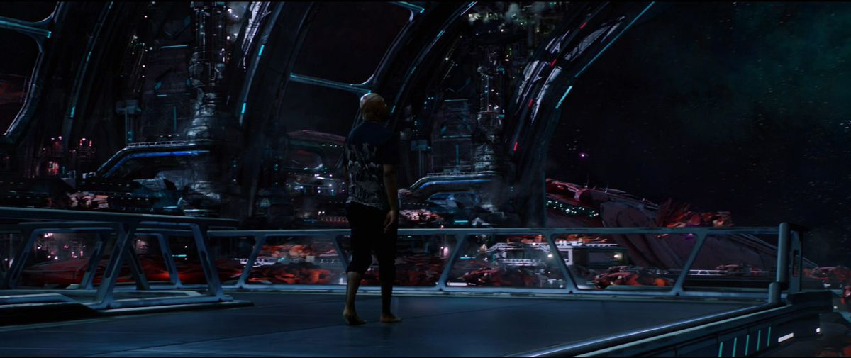 Nick Fury in Spaaaaace in Spider-Man: Far From Home post-credit teaser scene