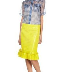 """<a href=""""http://www.marcjacobs.com/marc-jacobs/womens/ss12-and-re12-ready-to-wear/w41279136/mock-croc-pencil-skirt#?p=1&s=12"""">Mock Croc Pencil Skirt</a>, $1194 (was $1,990)"""